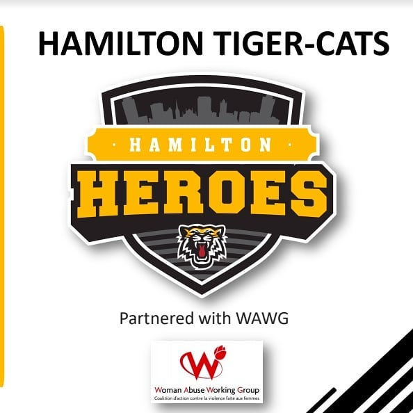 "Photo: logo image and text saying ""Hamilton Tiger-Cats Heroes Program 2019"". This image is for a post asking for nominations"