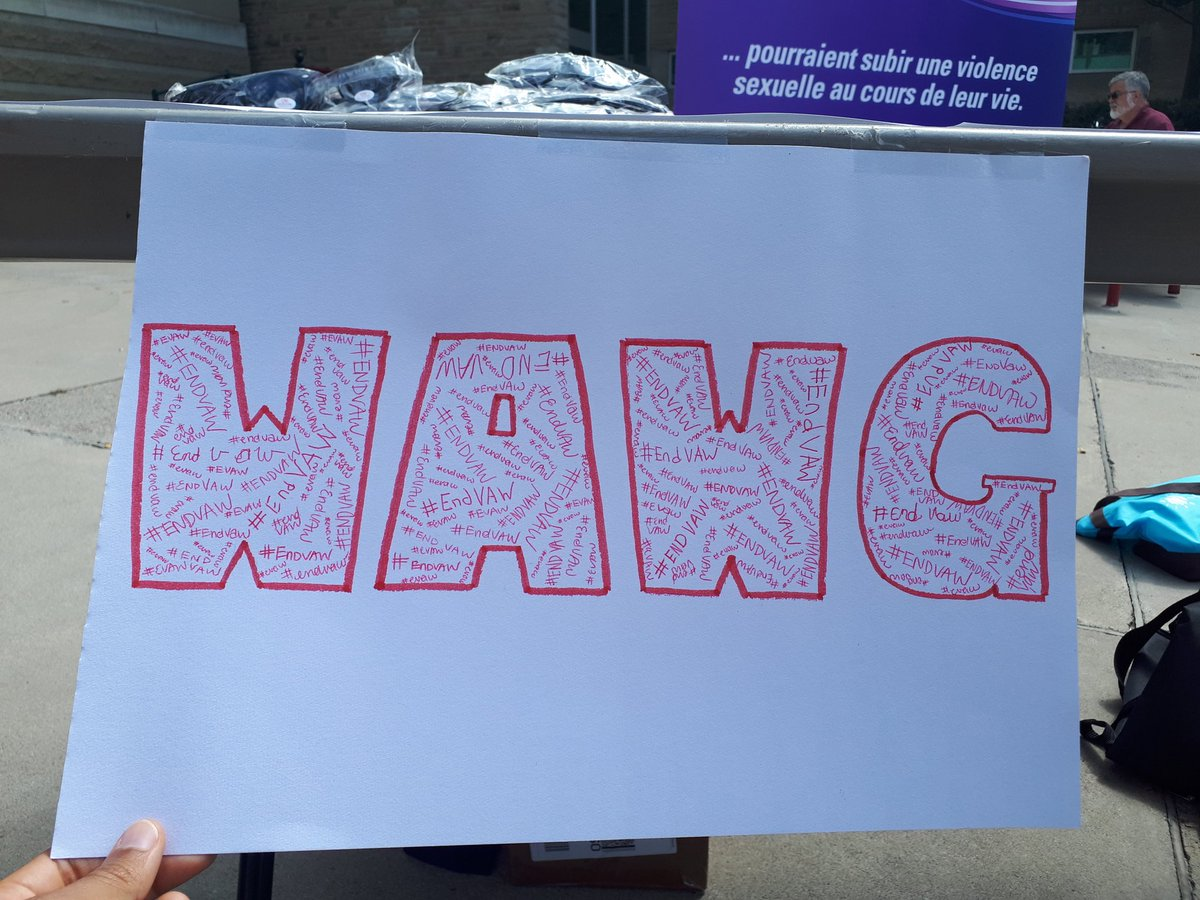 Blog Post Image of a WAWG sign. There are women's signatures in the sign.