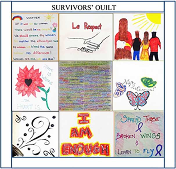 Drawing of a Survivor's Quilt