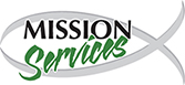 The fish logo of Mission Services. The logo also has a link to the organization's website.