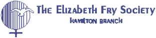 Logo of the Elizabeth Fry Society, Hamilton Branch. This is also a link that when clicked on takes the user to their web site.