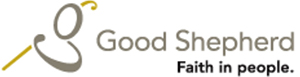 "Logo of Good Shepherd Hamilton. There is also the text ""Faith in people.' The logo links to Good Shepherd's website."