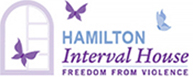 "Logo of Hamilton Interval House -""Freedom From Violence"" The logo also links to the organization's website."