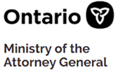 Logo of the Ontario Ministry of the Attorney General. The logo links to the web page of the Victim/Witness Assistance Program