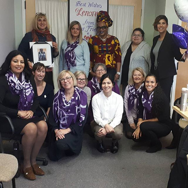 Photo of 13 women from the Woman Abuse Working Group Organization. (WAWG)
